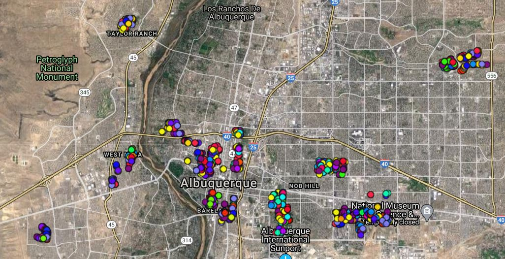 ABQ NW Tree Map as of June 2020