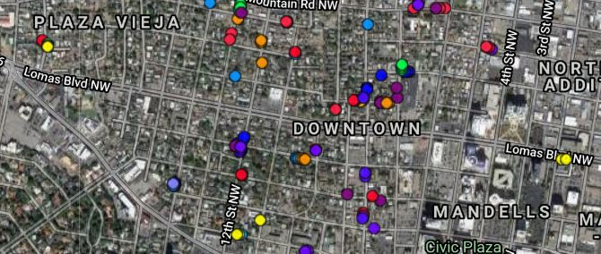 Downtown Tree Map