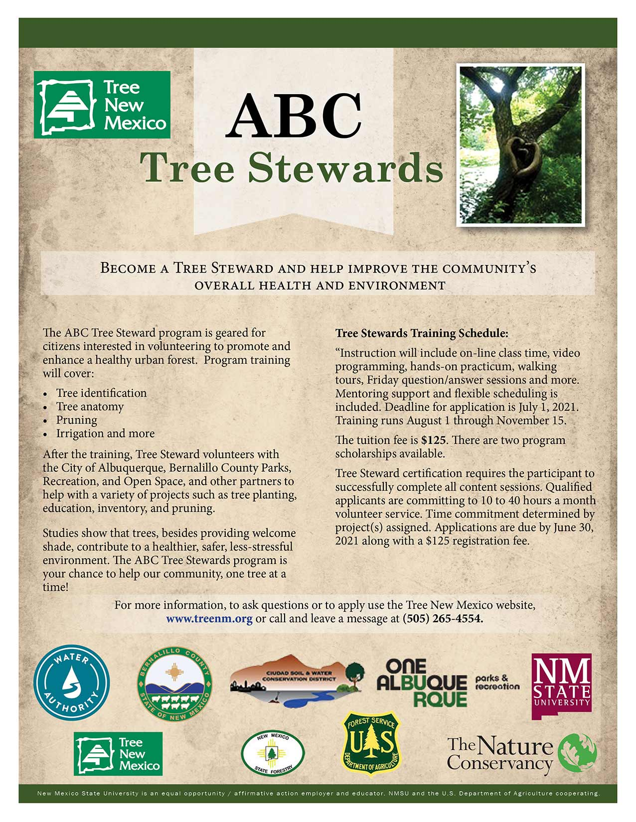 Sign up for Tree Stewards